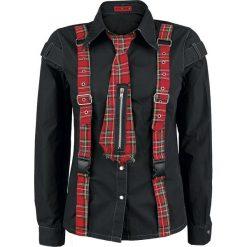 KuroNeko Punk Shirt Bluzka damska czarny. Czarne bluzki asymetryczne KuroNeko, m, z długim rękawem. Za 79,90 zł.