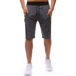 Spodenki i szorty męskie: Spodenki dresowe męskie antracytowe (sx0629)