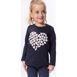 T-shirty dziewczęce: Bluzka z serduszkiem ciemnoszara DZ7010