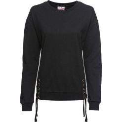 Bluza ze sznurowaniem, długi rękaw bonprix czarny. Czarne bluzy rozpinane damskie bonprix, z długim rękawem, długie. Za 79,99 zł.