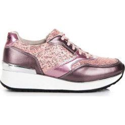 Buty sportowe damskie: KYLIE Buty damskie z brokatem różówe r. 41