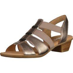 Rzymianki damskie: Skórzane sandały w kolorze miedzianym