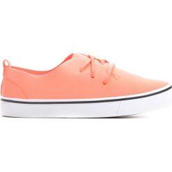 Pomarańczowe Tenisówki Utility. Brązowe buty sportowe dziewczęce Born2be, z materiału, z okrągłym noskiem, na sznurówki. Za 19,99 zł.