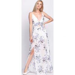 Biała Sukienka Marble. Białe sukienki hiszpanki Born2be, na lato, s, wizytowe. Za 129,99 zł.
