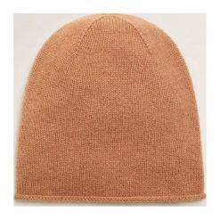 Mango - Czapka Perla. Pomarańczowe czapki zimowe damskie Mango, na zimę, z dzianiny. Za 139,90 zł.