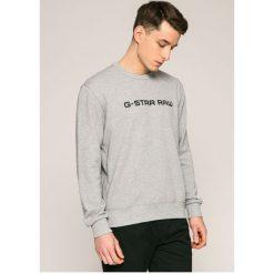 G-Star Raw - Bluza. Szare bluzy męskie rozpinane marki G-Star RAW, l, z nadrukiem, z bawełny, bez kaptura. W wyprzedaży za 269,90 zł.