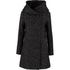 Vila VICAMA  Krótki płaszcz black. Czarne płaszcze damskie wełniane marki Vila, m. W wyprzedaży za 439,20 zł.