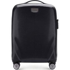Walizka mała 56-3P-571-10. Czarne walizki marki Wittchen, z gumy, małe. Za 329,00 zł.