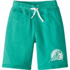 Bermudy dresowe melanż bonprix turkusowy melanż. Niebieskie spodnie dresowe dziewczęce marki bonprix, melanż, z dresówki. Za 24,99 zł.