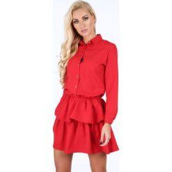 Sukienka z falbanami czerwona 5055. Czerwone sukienki Fasardi, l. Za 109,00 zł.