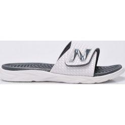 New Balance - Klapki. Szare klapki męskie marki New Balance, z gumy. W wyprzedaży za 119,90 zł.