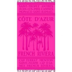 """Kąpielówki męskie: Fouta """"Cisele Azur"""" w kolorze różowym – 160 x 90 cm"""