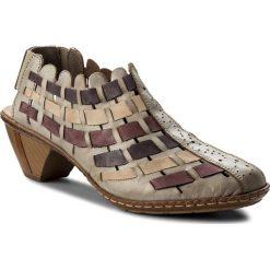 Rzymianki damskie: Sandały RIEKER – 46778-62 Beige Kombi