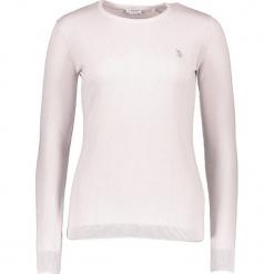 Sweter w kolorze białym. Białe swetry klasyczne damskie marki U.S. Polo Assn., xs, z bawełny, z okrągłym kołnierzem. W wyprzedaży za 173,95 zł.
