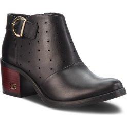 Botki CARINII - B4229 E50-000-000-861. Różowe buty zimowe damskie marki Carinii, z materiału, z okrągłym noskiem, na obcasie. W wyprzedaży za 239,00 zł.