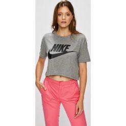 Nike Sportswear - Top. Różowe topy damskie Nike Sportswear, l, z nadrukiem, z dzianiny, z okrągłym kołnierzem. Za 129,90 zł.