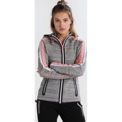 Superdry GYMTECH BOUNCE ZIPHOOD Bluza rozpinana grey super grit. Szare bluzy rozpinane damskie Superdry, xxs, z bawełny. W wyprzedaży za 341,10 zł.