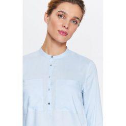 BLUZKA DŁUGI RĘKAW. Szare bluzki koszulowe Top Secret, klasyczne, z długim rękawem. Za 69,99 zł.