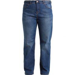 Boyfriendy damskie: Zizzi Jeansy Straight Leg blue denim