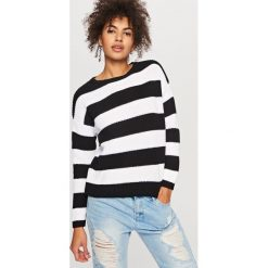 Swetry klasyczne damskie: Sweter z zabudowanym dekoltem – Wielobarwn