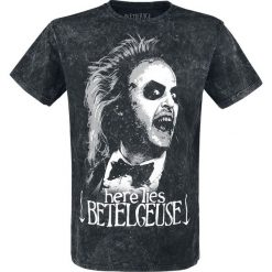 T-shirty męskie z nadrukiem: Beetlejuice Here Lies Betelgeuse T-Shirt szary