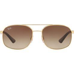 Ray-Ban - Okulary. Szare okulary przeciwsłoneczne męskie wayfarery marki Ray-Ban, z materiału. Za 549,90 zł.
