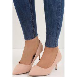 Buty ślubne damskie: Różowe Czółenka Feel Style