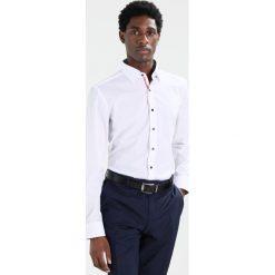 Koszule męskie na spinki: Eterna SLIM FIT UBD AUSPUTZ Koszula biznesowa weiss