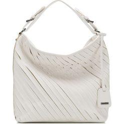 Torebka damska 86-4Y-556-9. Białe torebki klasyczne damskie Wittchen, w paski, zdobione. Za 139,00 zł.