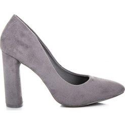 Buty ślubne damskie: ELEGANCKIE CZÓŁENKA NA SŁUPKU IDEAL SHOES odcienie szarości i srebra