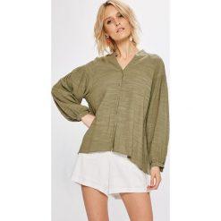 Answear - Koszula. Szare koszule damskie marki ANSWEAR, l, z bawełny, ze stójką, z długim rękawem. W wyprzedaży za 69,90 zł.
