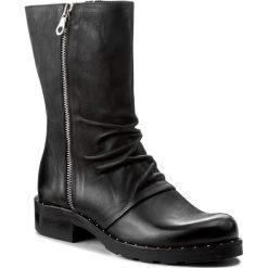 Botki EVA MINGE - Lurdes 2D 17JS1372272EF 101. Czarne buty zimowe damskie Eva Minge, z nubiku, na obcasie. W wyprzedaży za 329,00 zł.