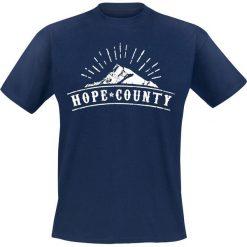T-shirty męskie z nadrukiem: Far Cry 5 – Hope County T-Shirt granatowy