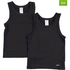 T-shirty chłopięce: Podkoszulki (2 szt.) w kolorze czarnym