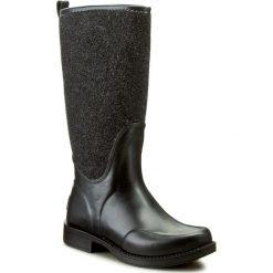 Kalosze UGG - W Reignfall 1014455 W/Blk. Szare buty zimowe damskie marki Ugg, z materiału, z okrągłym noskiem. W wyprzedaży za 439,00 zł.