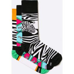 Soxy - Skarpety Zebras (3-pack). Białe skarpetki męskie marki WED'ZE, z elastanu. W wyprzedaży za 59,90 zł.