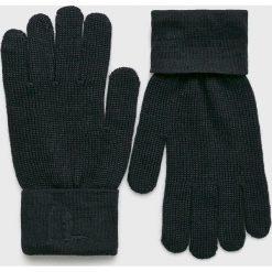 Trussardi Jeans - Rękawiczki. Czarne rękawiczki męskie marki Trussardi Jeans, z dzianiny. Za 149,90 zł.