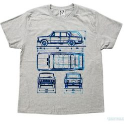 Koszulka FIAT 125 P GREY. Czarne t-shirty męskie marki Pakamera, m, z kapturem. Za 77,00 zł.