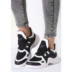 Biało-Czarne Sneakersy Life Must Go On. Czarne sneakersy damskie marki Born2be, z materiału. Za 109,99 zł.
