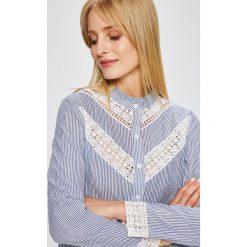 Answear - Koszula Wild Nature. Szare koszule wiązane damskie ANSWEAR, l, w paski, z bawełny, casualowe, ze stójką, z długim rękawem. W wyprzedaży za 69,90 zł.