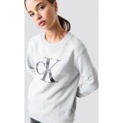 Calvin Klein Bluza Core Monogram Logo - Grey. Szare bluzy rozpinane damskie Calvin Klein. Za 404,95 zł.