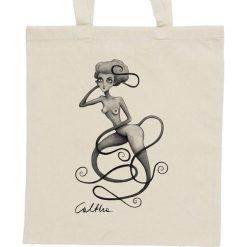 Shopper bag damskie: Wężowa – torba – 2 kolory