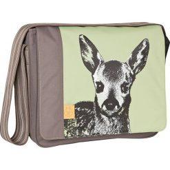 """Torebki klasyczne damskie: Torba """"Messenger Bag"""" w kolorze brązowo-zielonym na akcesoria do przewijania – 36,5 x 31,5 x 14 cm"""