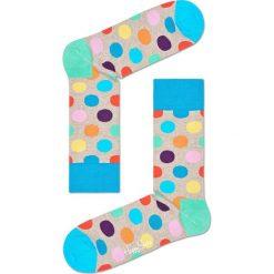 Happy Socks - Skarpety Big Dot. Szare skarpetki męskie Happy Socks, z bawełny. W wyprzedaży za 27,90 zł.