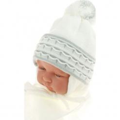 Czapka niemowlęca z szalikiem CZ+S 008E. Szare czapeczki niemowlęce Proman. Za 36,70 zł.