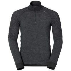 Odlo Koszulka męska Shirt l/s turtle neck 1/2 zip REVOLUTION melanż r. XL (110212). Czarne koszulki sportowe męskie marki Odlo, l. Za 284,22 zł.