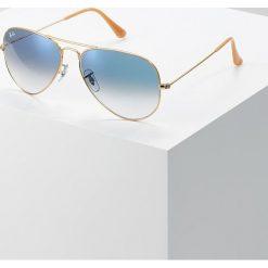 RayBan AVIATOR Okulary przeciwsłoneczne gold crystal gradient light blue. Żółte okulary przeciwsłoneczne damskie aviatory Ray-Ban. Za 569,00 zł.