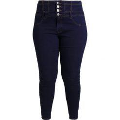 City Chic JEAN CORSET  Jeans Skinny Fit dark blue. Niebieskie jeansy damskie relaxed fit marki City Chic. W wyprzedaży za 341,10 zł.
