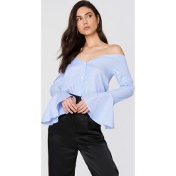 Paski damskie: Boohoo Koszula w paski Bardot – Blue,Multicolor