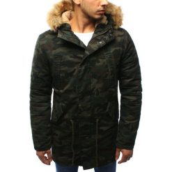 Męska kurtka parka zimowa woodland camo (tx1998). Zielone kurtki męskie zimowe marki Dstreet, m, z bawełny, z kapturem. Za 149,99 zł.